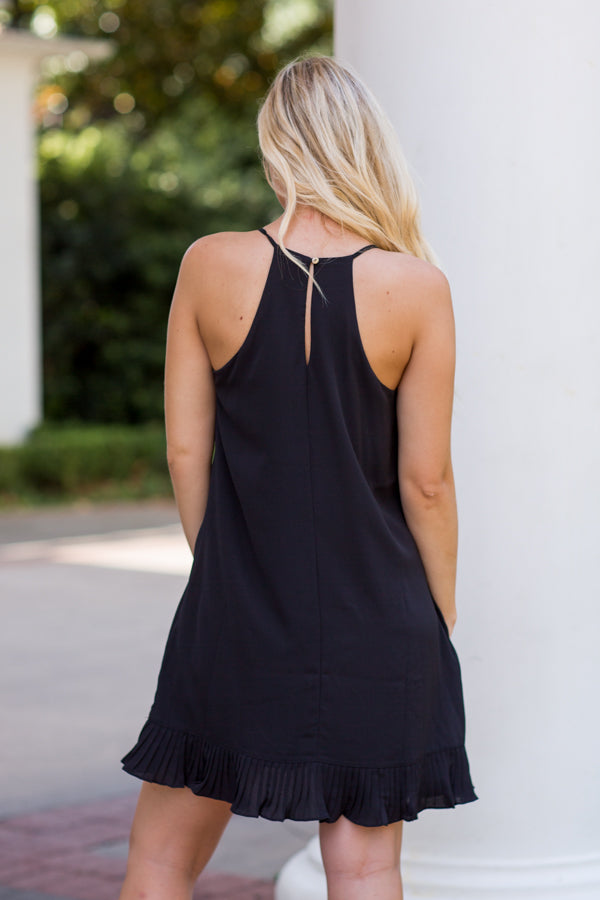 Ready To Rush Dress- Black