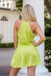 Lets Get It Started Dress - Lime