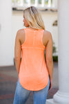 Z Supply V-Neck Tank- Neon Orange