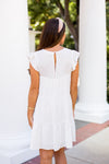 All Year Long Babydoll Dress- White