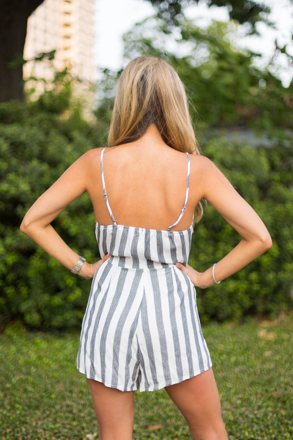 All In The Lines Romper