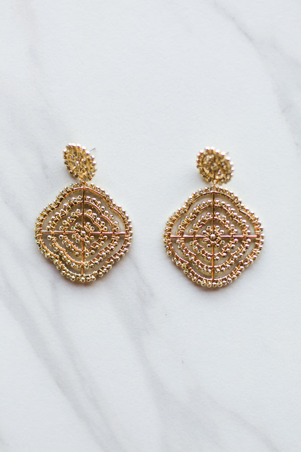 Cecilia Clover Earrings- Gold