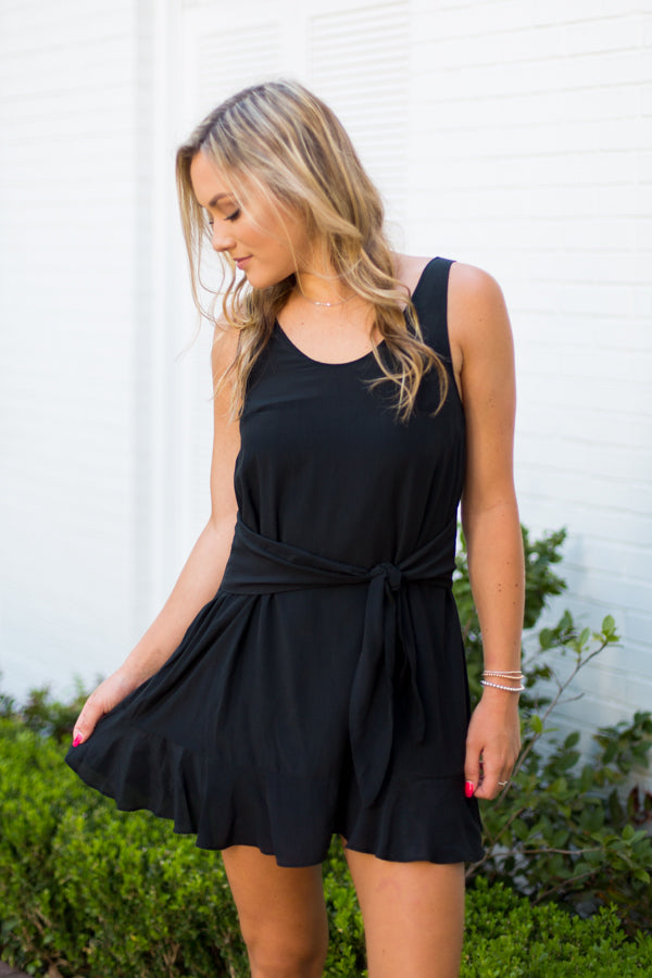 Football Flow Dress- Black