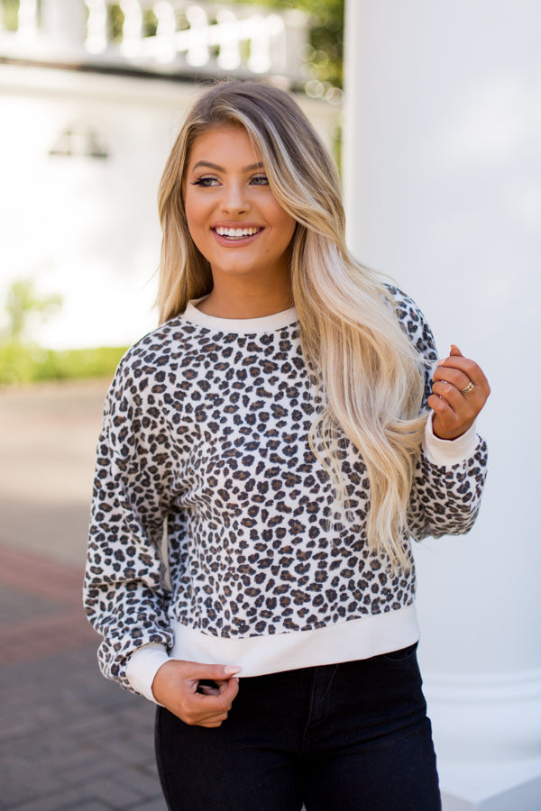 Z Supply Leopard Pullover- Natural