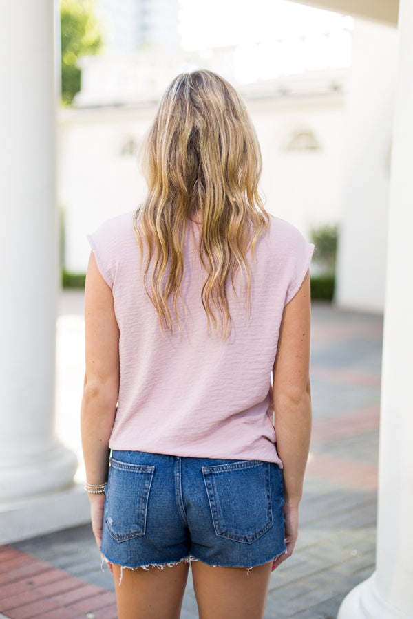 Bow Tie Blouse Top- Rose