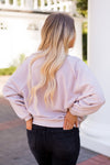 Z Supply Fuzz Sleeve Pullover- Pink Dust