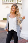 Z-Supply Marled Cocoon Cardigan- Heather Grey