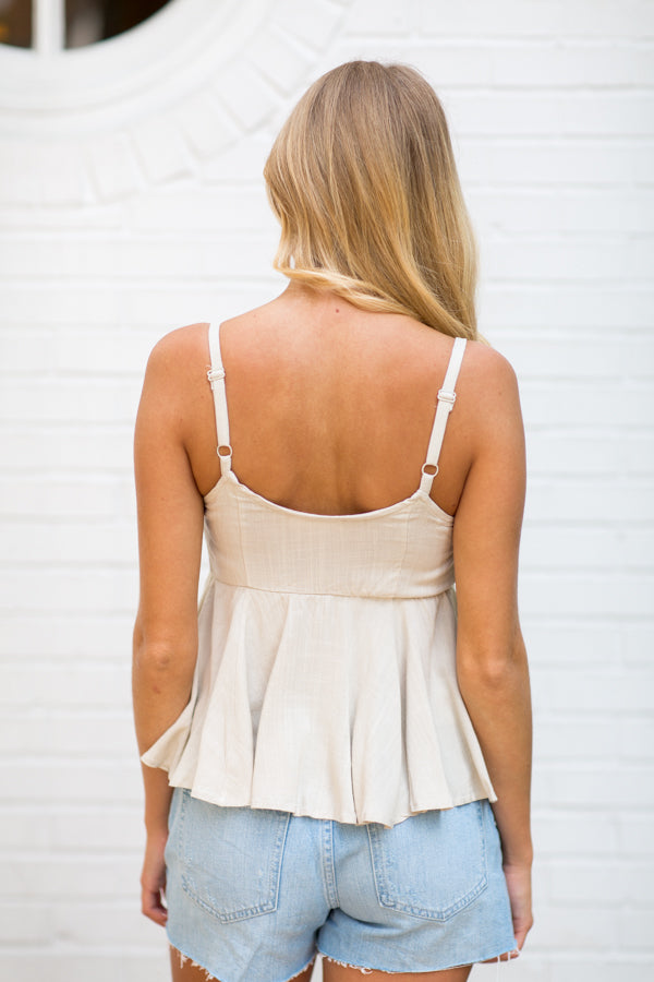 Take Me Anywhere Top- Natural