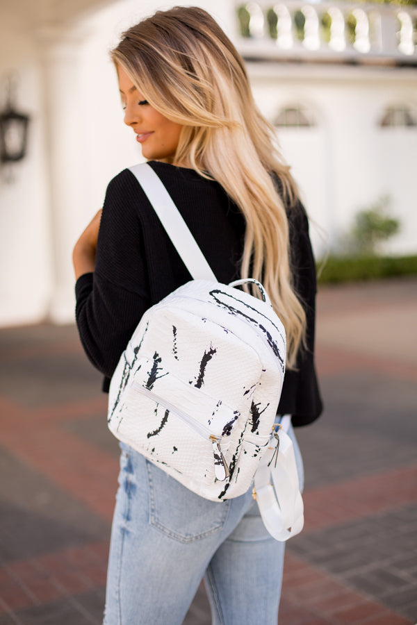 School's In Session Backpack- Marble