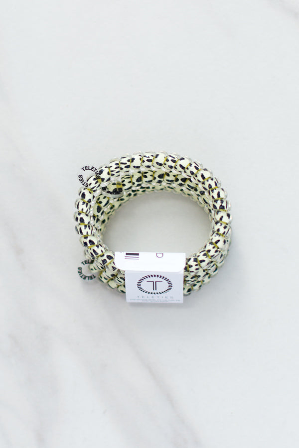 Teleties Small Hair Ties- Snow Leopard