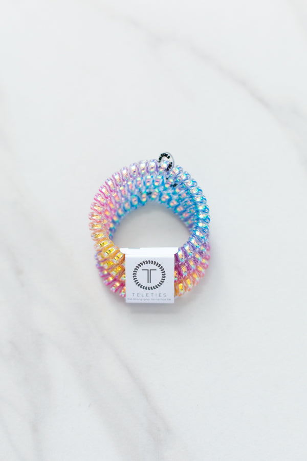 Teleties Small Hair Ties- Glitter Rainbow