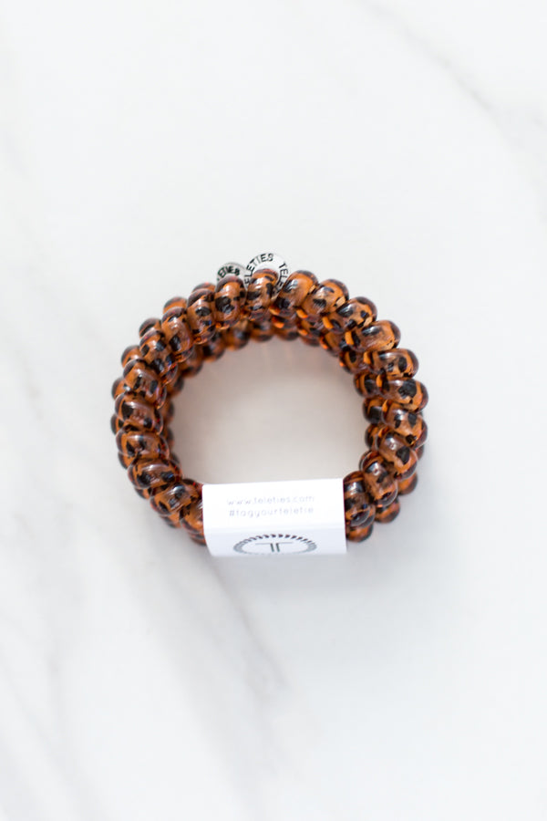 Teleties Large Hair Ties- Tortoise