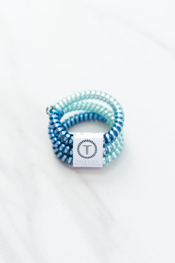Teleties Small Hair Ties- Blue Sapphire