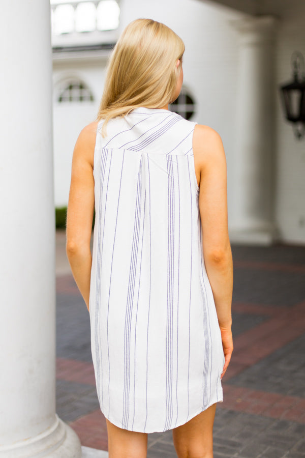 Out Of Office Dress - Asher Blue