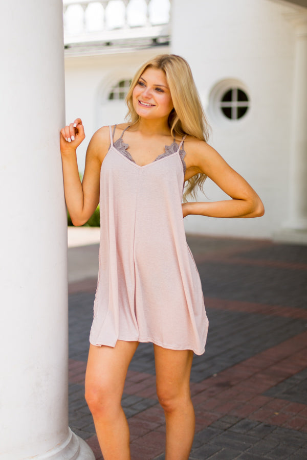 Play All Day Romper - Blush