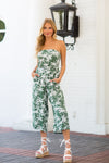 Palms In Paradise Jumpsuit- Green
