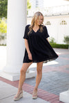 Babydoll Babe Dress- Black