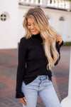 Standing Taller Turtleneck- Black