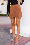 Seasons Are Shifting Envelope Skort- Camel