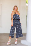 Walk It Out Jumpsuit- Charcoal