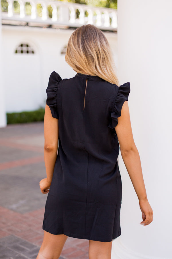 Taking Care Of Business Dress- Black
