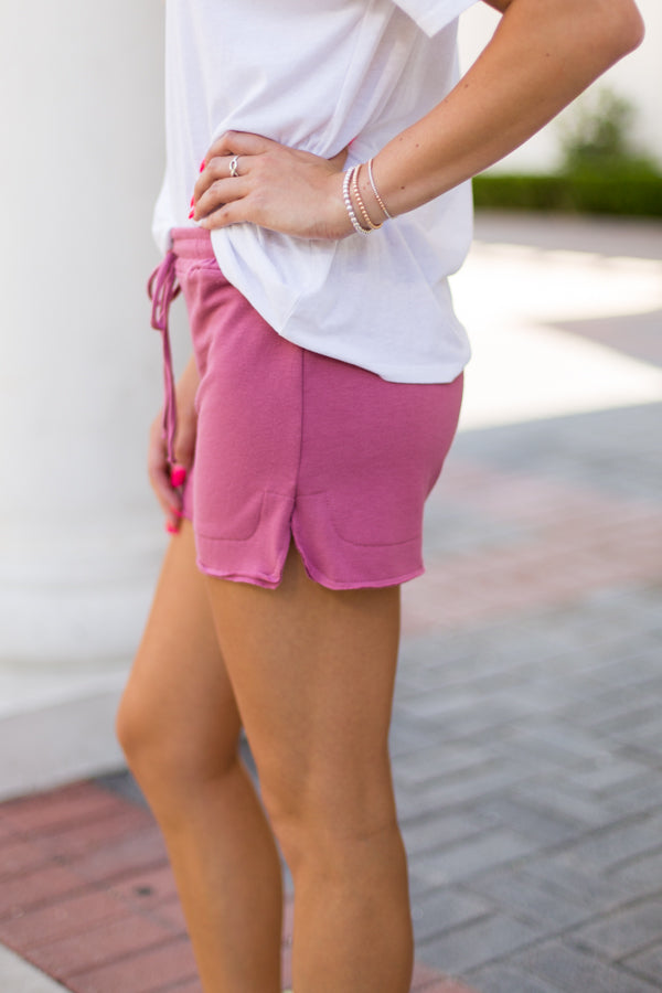 Softie Shorts- Mulberry
