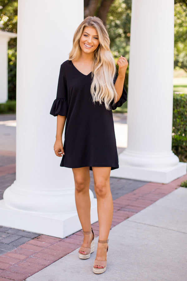 BB Dakota Business As Usual Dress- Black