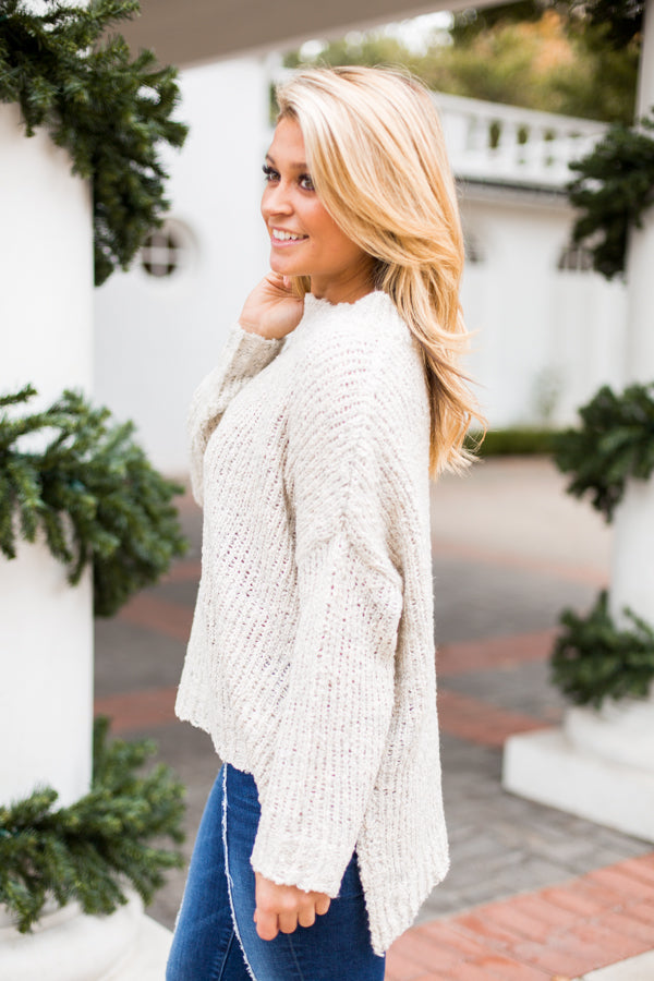Let's Talk About Knit Sweater- Ivory