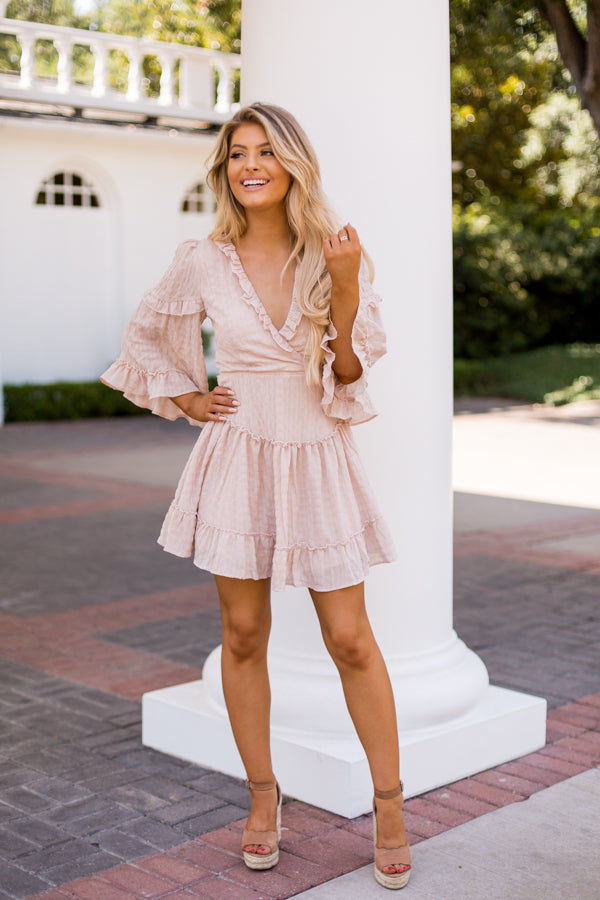Yours Truly Dress- Blush