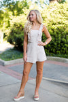 Not So Basic Romper- Khaki
