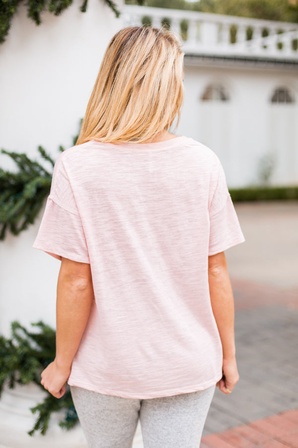 Z Supply Cut Tee- Peachskin