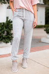 Stay Casual Joggers- Heather Grey