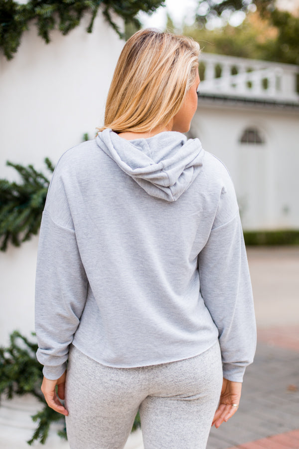 Z Supply Fleece Hoodie- Grey