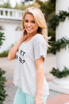 Wildfox Can I Pet Your Dog? V-Neck Tee- Grey