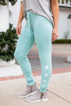 Z Supply Linear Star Joggers- Fair Aqua
