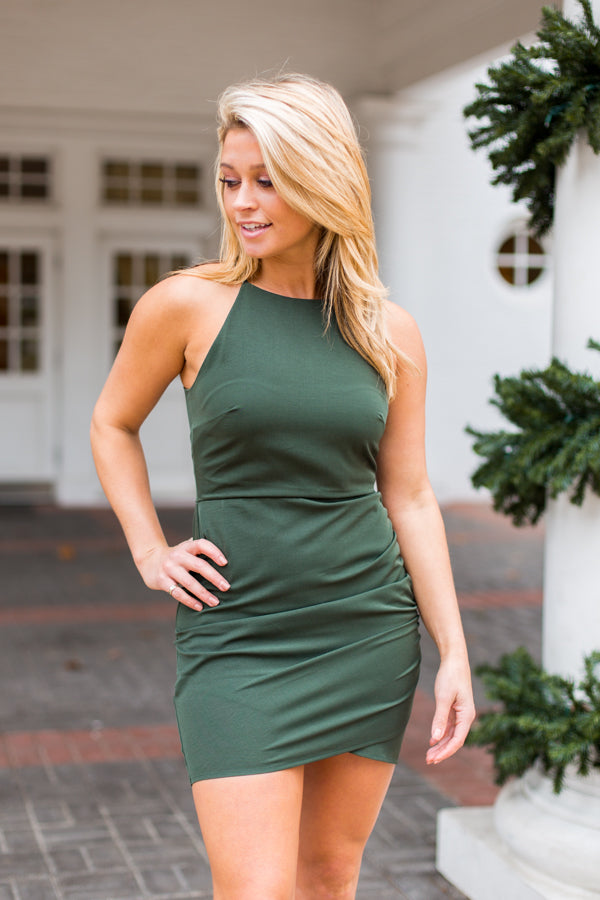 Here's The Holly Dress- Dark Green