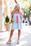 The Caroline Dress - Light Blue