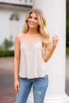 Never Too Neutral Top- Champagne