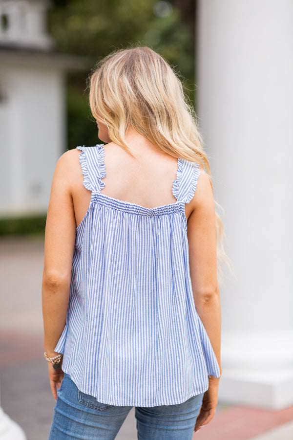 Walk On The Beach Top - Blue
