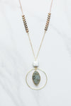 Follow The Arrow Necklace- Sage