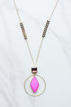 Follow The Arrow Necklace- Pink