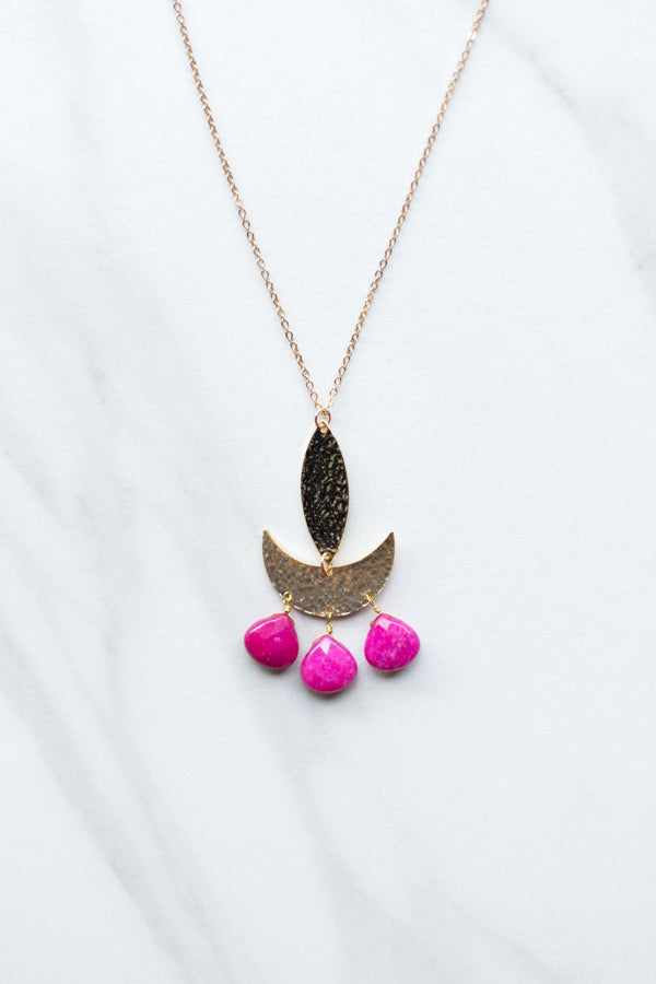 Rio Trio Necklace- Pink