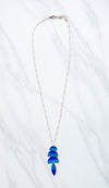 Waterfall Necklace- Blue