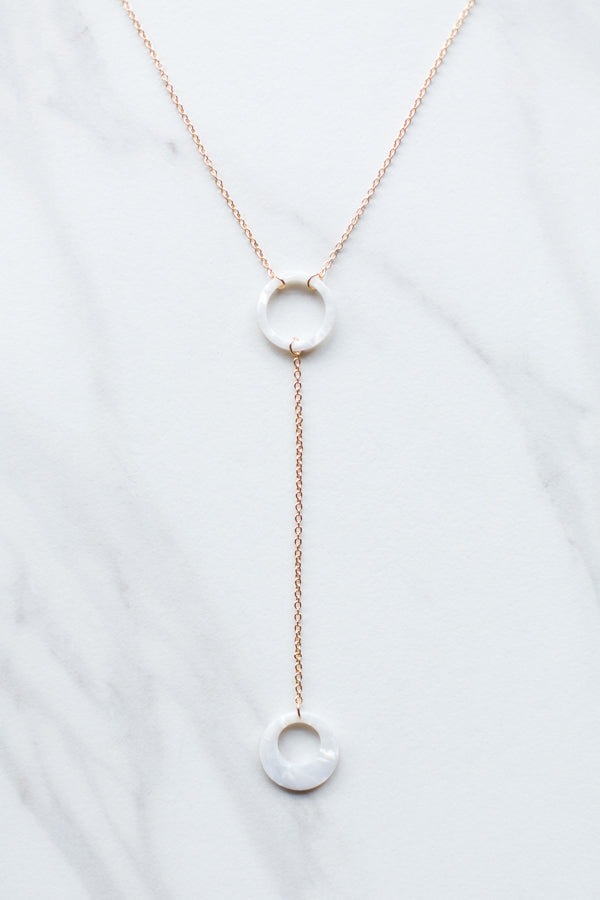 Acrylic Double Necklace- Ivory