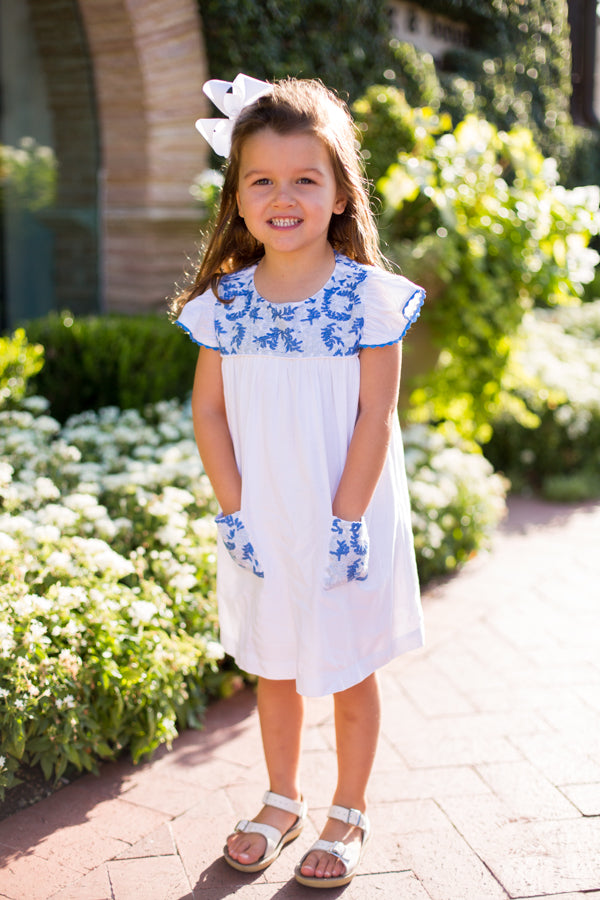 The Lucia Baby Dress - White
