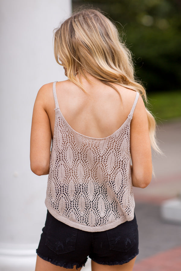 Sailor's Net Top- Beige