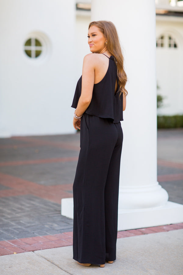 Stay Classy Jumpsuit - Black