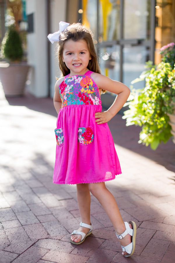The Cameron Baby Dress - Pink