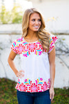 The Mckenna Split Top- White