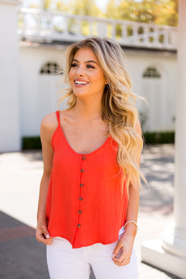 Fresh Squeezed Citrus Top - Red Orange